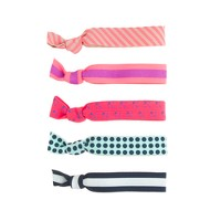 Girls' knotted hair ties five-pack