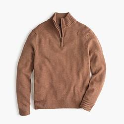 Tall lambswool half-zip sweater