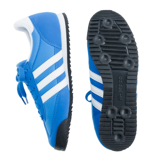 Kids' Adidas® blue Dragon sneakers in larger sizes
