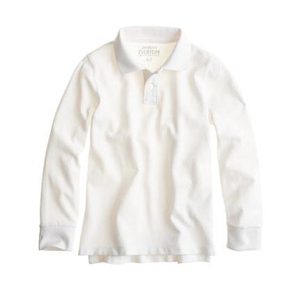 Boys' long-sleeve piqué polo shirt