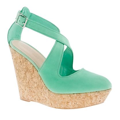 Loeffler Randall® Lucie crisscross wedge sandals