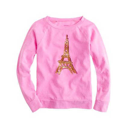 Girls' long-sleeve Eiffel Tower tee