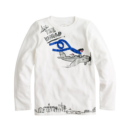 Girls' long-sleeve see the world tee