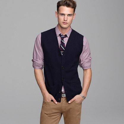 Fine lambswool button-down vest : catalogjcrewcomexclusives | J.Crew