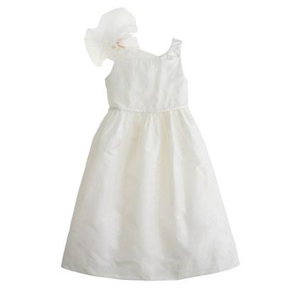 Girls' silk taffeta Emery dress