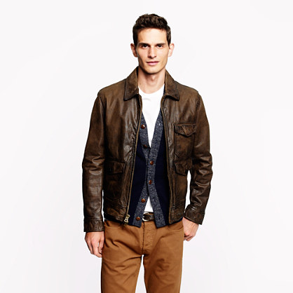 Leather Garrett jacket