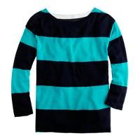 Rugby-stripe boatneck top