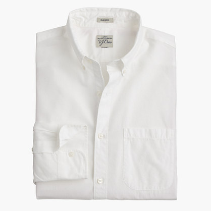 Slim Secret Wash shirt in white