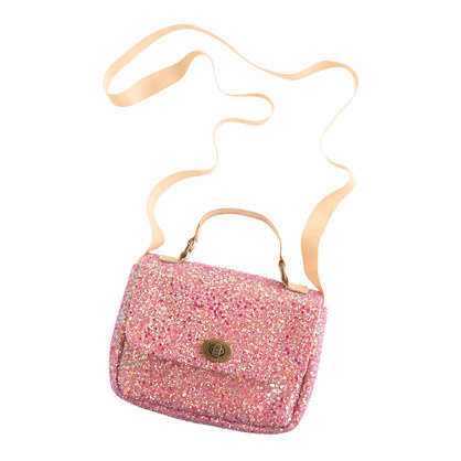 Girls' mini Edie glitter bag