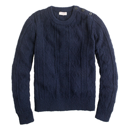 Wallace & Barnes chunky cable sweater