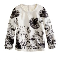 Collection silk popover in photo floral