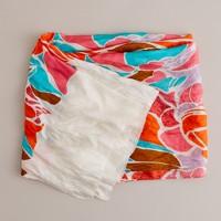 Long washed-silk scarf
