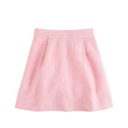 Girls' pleated swing skirt in herringbone
