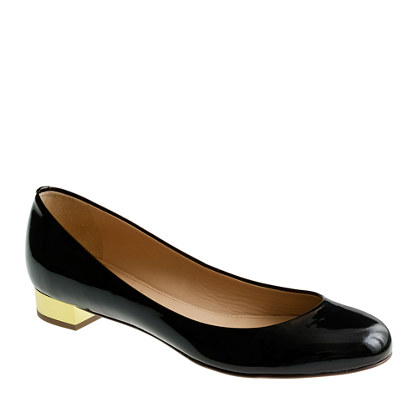 Flats With Gold Heel