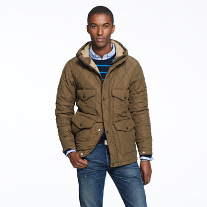 Quilted hooded Langham jacket