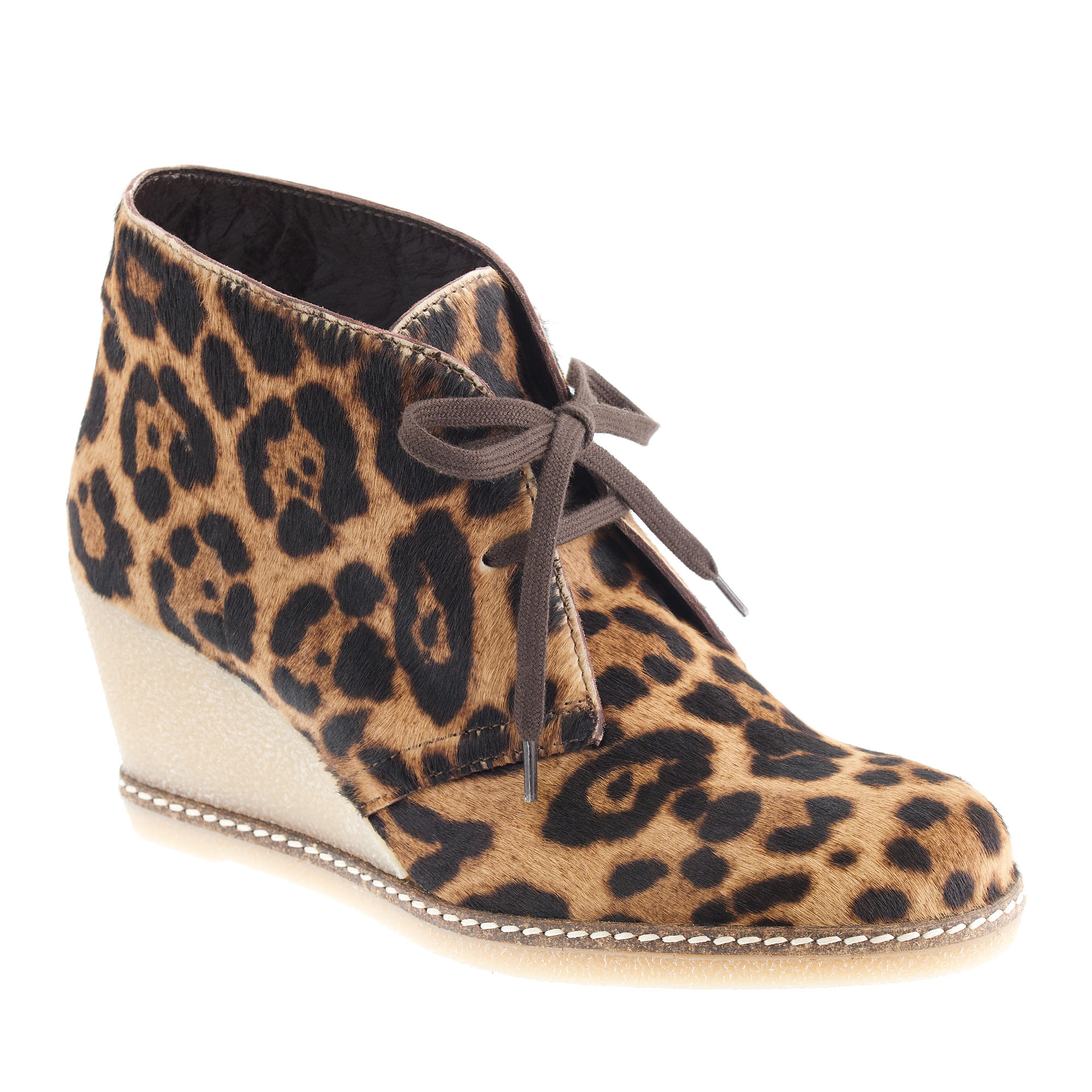 collection macalister calf hair wedge boots j crew
