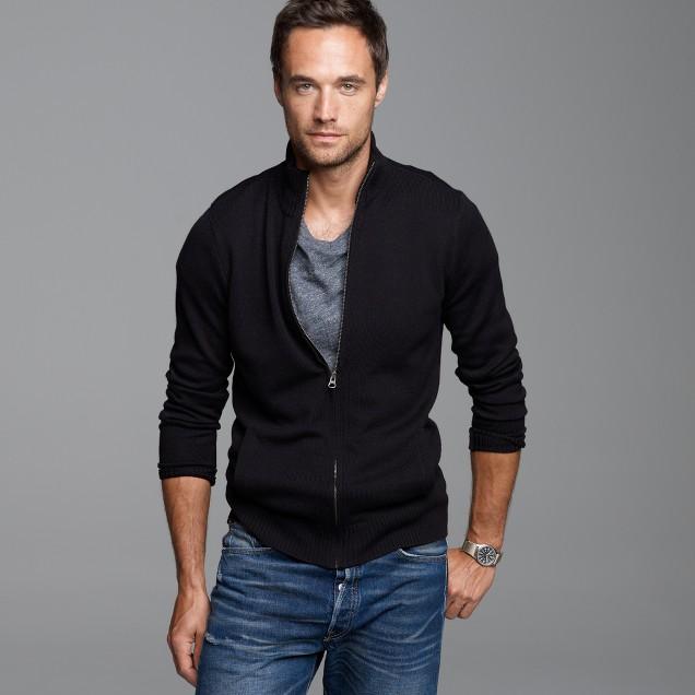 Merino full-zip sweater