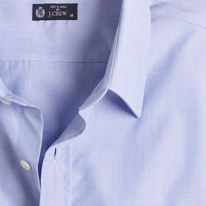 Point-collar end-on-end classic-fit dress shirt