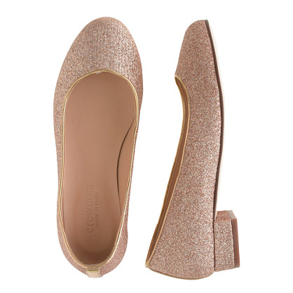 Girls' Janey glitter flats