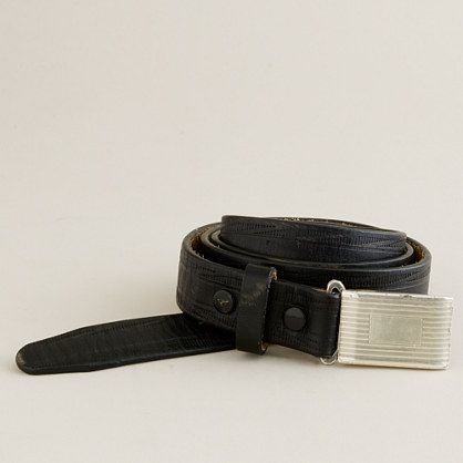 English leather plaque belt