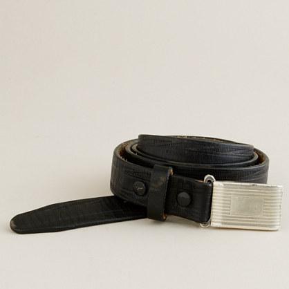 English leather plaque belt