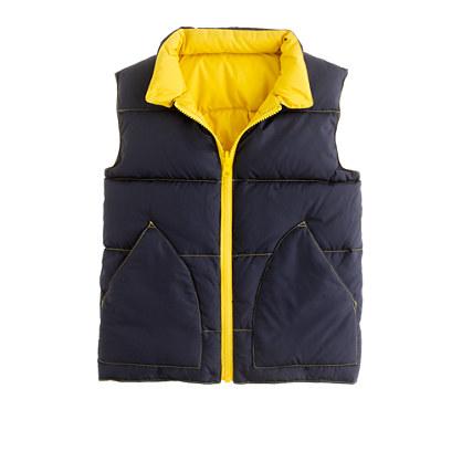 Boys' reversible puffer vest
