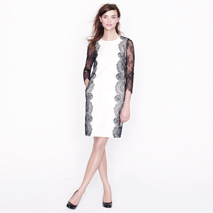 Collection lace-trim shift dress