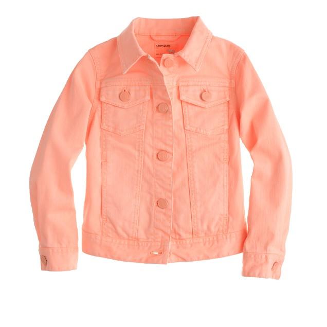 Girls' garment-dyed denim jacket