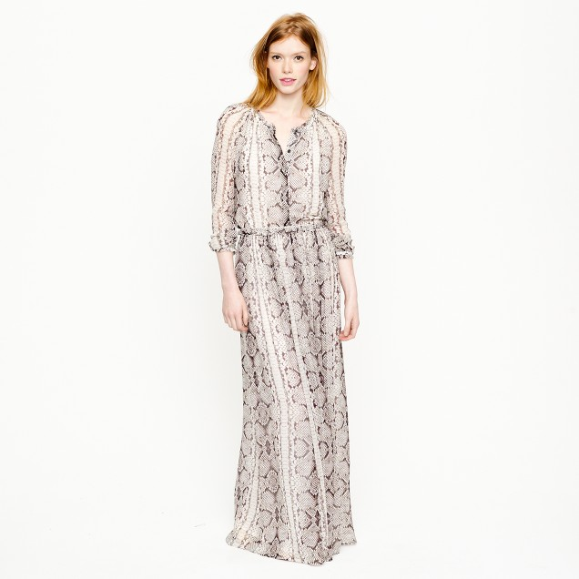 Collection maxiskirt in snake print