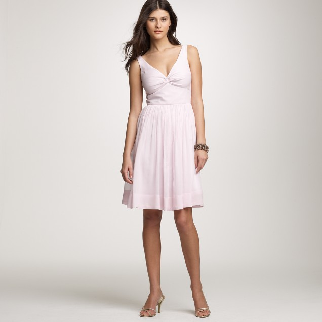 Silk chiffon twist-tank dress