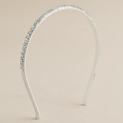 Girls' jeweled skinny headband