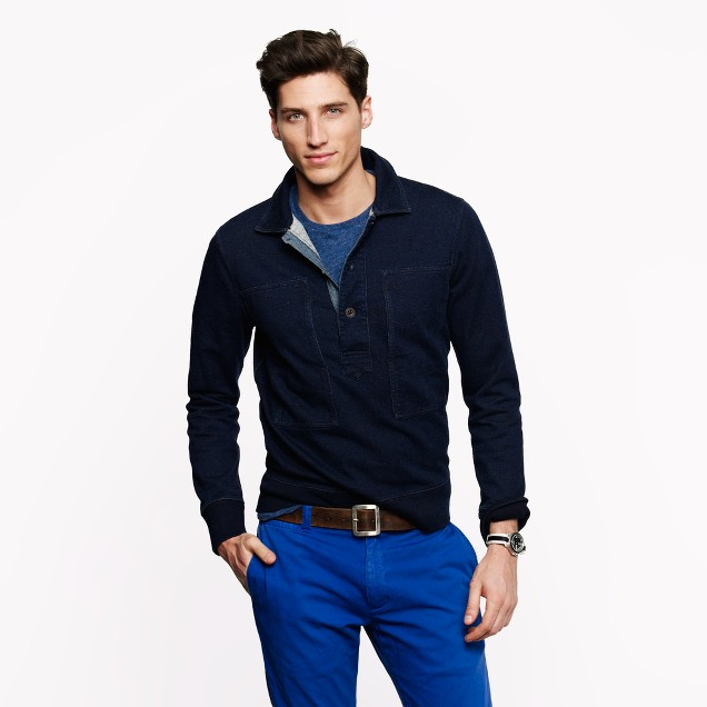 Wallace & Barnes indigo fleece workshirt