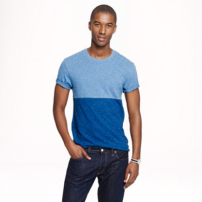 Colorblock indigo T-shirt