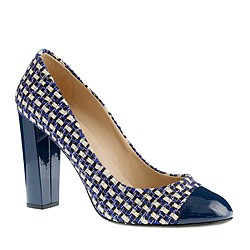 Collection Etta cap toe tweed pumps