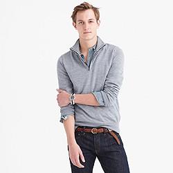 Tall merino wool half-zip sweater