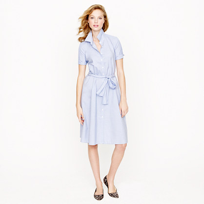 Classic shirtdress in end-on-end