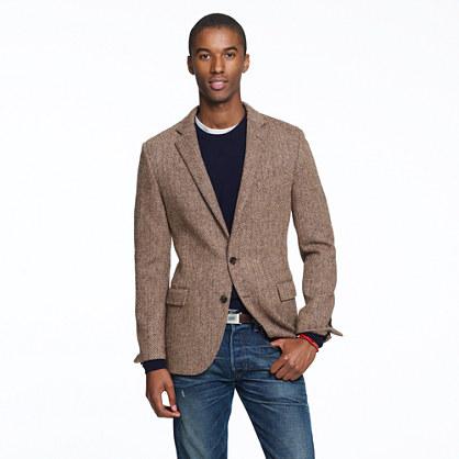Ludlow sportcoat in herringbone Harris Tweed wool