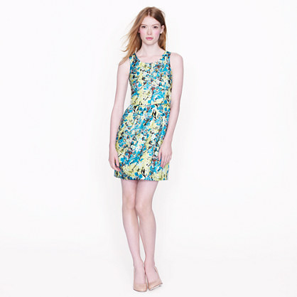 Allie dress in aqua floral