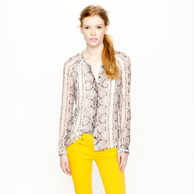Collection snake-print blouse