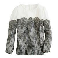 Collection lace-trim blouse