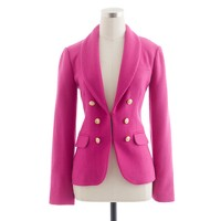 Collection crepe shawl blazer