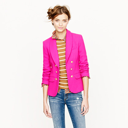 Collection crepe shawl blazer