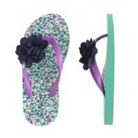 Girls' ditzy floral flip-flops