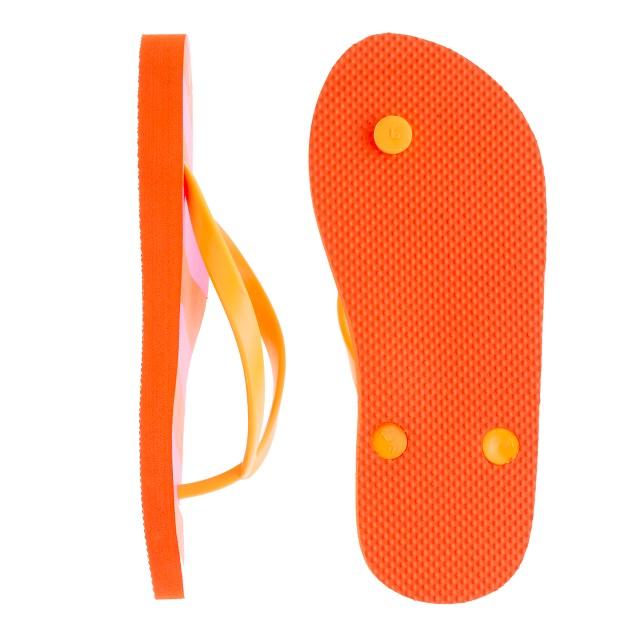 Girls' stripe flip-flops