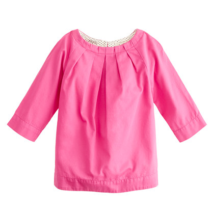 Girls' sateen bow top