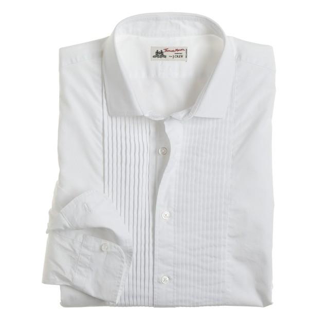 Washed Thomas Mason® fabric tuxedo shirt