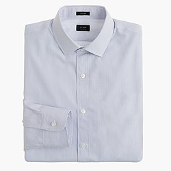 Ludlow spread-collar shirt in atlantic stripe