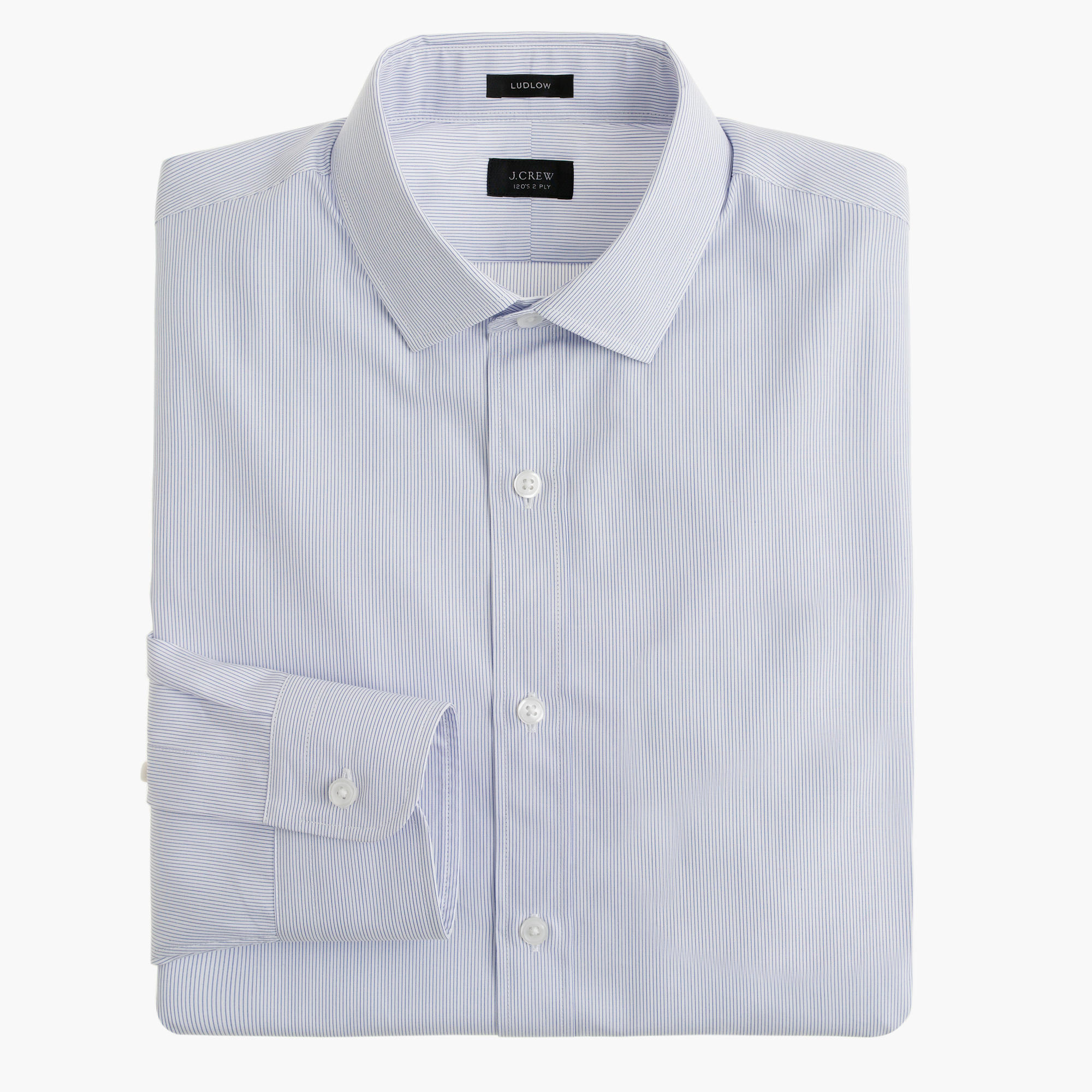 Ludlow spread collar shirt in atlantic stripe men 39 s for Men s spread collar shirts