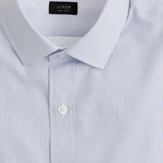 Ludlow spread-collar shirt in atlantic stripe