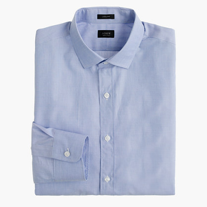 Ludlow shirt in end-on-end cotton